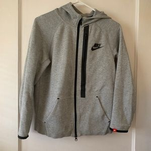 Nike sportswear tech boys grey hoodie sz large